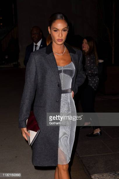 Joan Smalls attends a screening of 'The Boy Who Harnessed the Wind' in SoHo on February 25 2019 in New York City