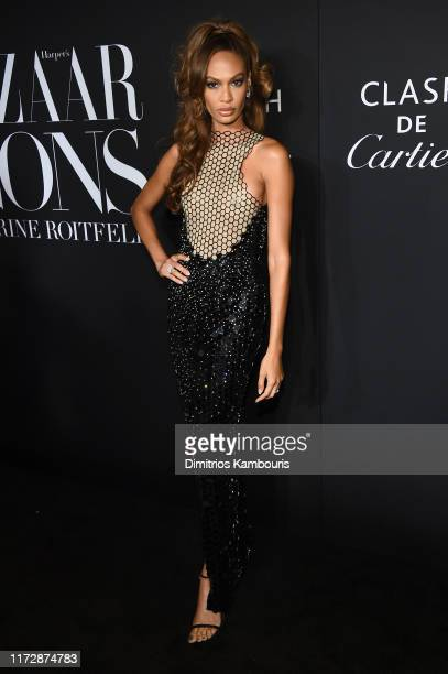 "Joan Smalls attends as Harper's BAZAAR celebrates ""ICONS By Carine Roitfeld"" at The Plaza Hotel presented by Cartier - Arrivals on September 06, 2019..."