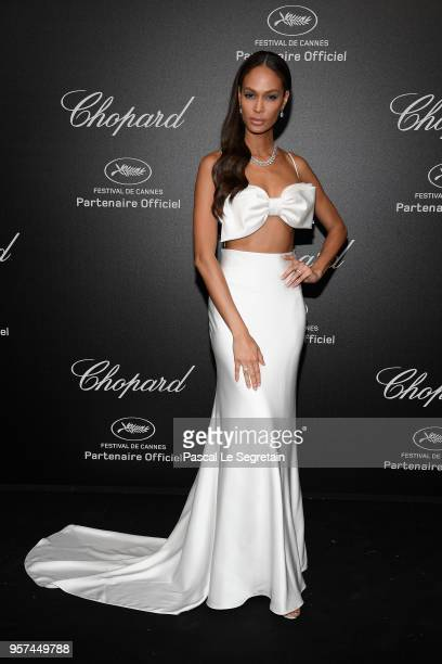 Joan Smalls attends Chopard Secret Night during the 71st annual Cannes Film Festival at Chateau de la Croix des Gardes on May 11 2018 in Cannes France