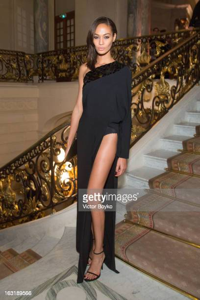 Joan Smalls attends 'CR Fashion Book Issue 2' Carine Roitfeld Cocktail as part of Paris Fashion Week at Hotel ShangriLa on March 5 2013 in Paris...