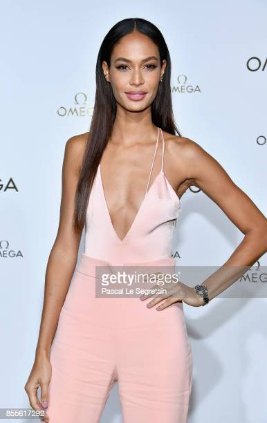 Joan Smalls attends 'Her Time' Omega Photocall as part of the Paris Fashion Week Womenswear Spring/Summer 2018 on September 29 2017 in Paris France