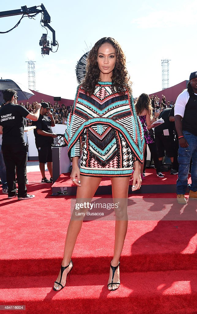 Joan Smalls attends the 2014 MTV Video Music Awards at The Forum on August 24, 2014 in Inglewood, California.