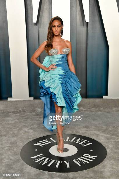 Joan Smalls attends the 2020 Vanity Fair Oscar Party hosted by Radhika Jones at Wallis Annenberg Center for the Performing Arts on February 09 2020...