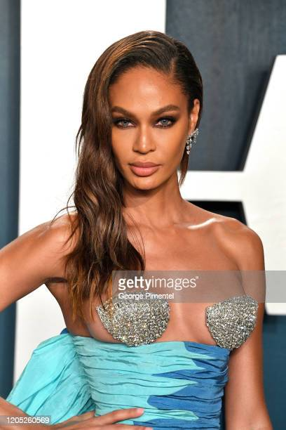 Joan Smalls attends the 2020 Vanity Fair Oscar party hosted by Radhika Jones at Wallis Annenberg Center for the Performing Arts on February 09, 2020...