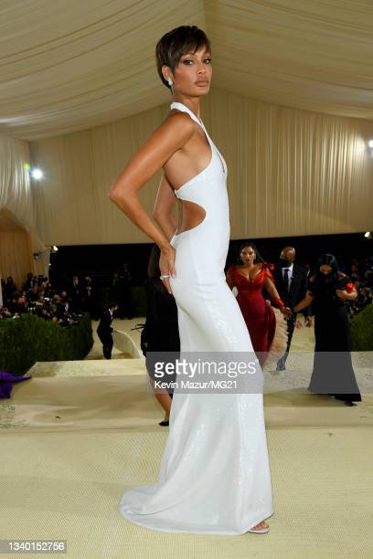 Joan Smalls attends The 2021 Met Gala Celebrating In America: A Lexicon Of Fashion at Metropolitan Museum of Art on September 13, 2021 in New York...