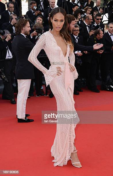 "Joan Smalls attends the ""Cleopatra"" Premiere during the 66th Annual Cannes Film Festival at Grand Theatre Lumiere on May 21, 2013 in Cannes, France."