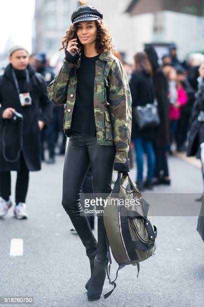 Joan Smalls attends the Michael Kors fashion show during New York Fashion Week at the Vivian Beaumont Theater at Lincoln Center on February 14 2018...