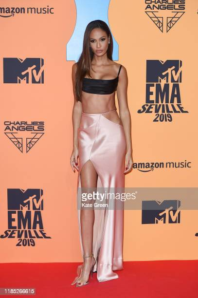 Joan Smalls attends the MTV EMAs 2019 at FIBES Conference and Exhibition Centre on November 03 2019 in Seville Spain