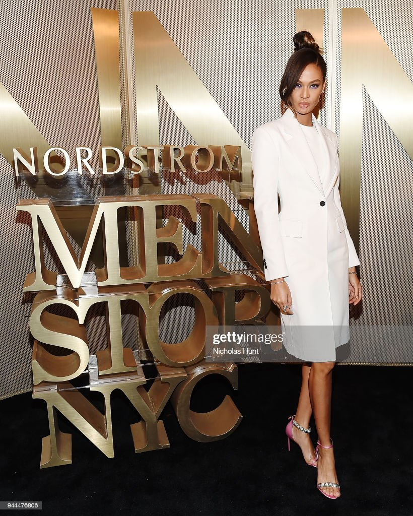 Joan Smalls attends the Nordstrom Men's NYC Store Opening on April 10, 2018 in New York City.