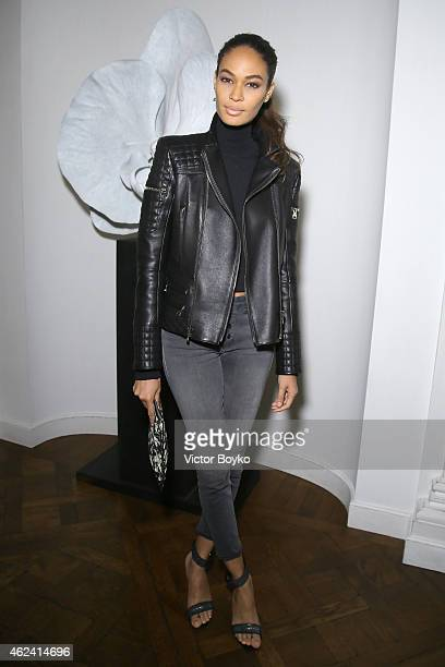 Joan Smalls attends the party for Dasha Zhukova' cover for Wall Street Journal on January 27 2015 in Paris France