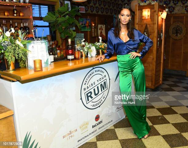 Joan Smalls attends the Raise Your Rum on National Rum Day with BACARDI Rum on August 16 2018 in New York City
