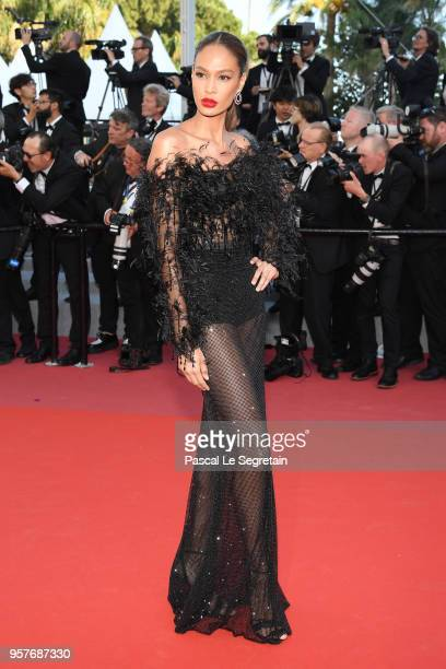"""Joan Smalls attends the screening of """"Girls Of The Sun """" during the 71st annual Cannes Film Festival at Palais des Festivals on May 12, 2018 in..."""