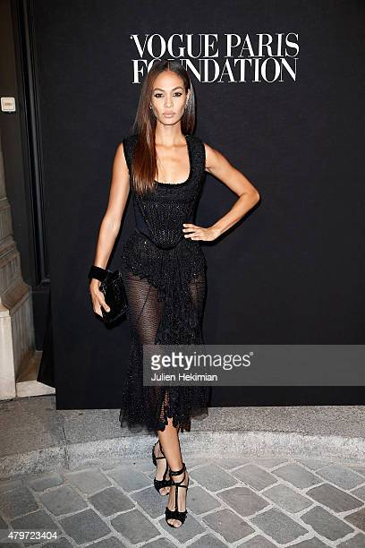 Joan Smalls attends the Vogue Paris Foundation Gala at Palais Galliera on July 6 2015 in Paris France