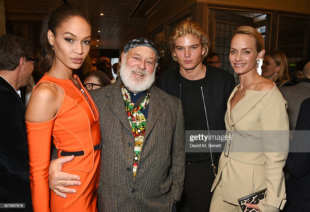 Joan Smalls, Bruce Weber, Jordan Barrett and Amber Valletta attend The Fashion Awards in partnership with Swarovski nominees' lunch hosted by the British Fashion Council at Little House Mayfair on December 4, 2016 in London, England.