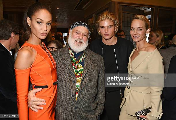 Joan Smalls Bruce Weber Jordan Barrett and Amber Valletta attend The Fashion Awards in partnership with Swarovski nominees' lunch hosted by the...