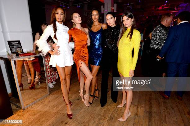 Joan Smalls Candice Swanpoel Lais Ribeiro Lily Aldridge and Sara Sampaio celebrate the launch of YouTubecom/Fashion on September 09 2019 in New York...