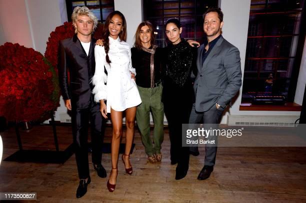 Joan Smalls Carine Roitfeld Restoin Lily Aldridge and Derek Blasberg celebrate the launch of YouTubecom/Fashion on September 09 2019 in New York City