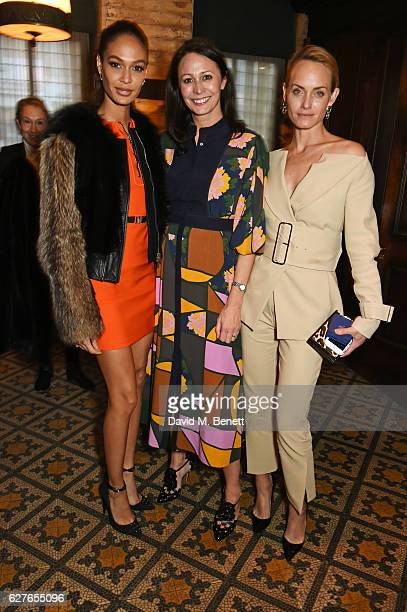Joan Smalls Caroline Rush and Amber Valletta attend The Fashion Awards in partnership with Swarovski nominees' lunch hosted by the British Fashion...