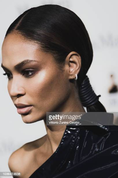 Joan Smalls is seen backstage ahead of the Max Mara show during Milan Fashion Week Spring/Summer 2019 on September 20 2018 in Milan Italy
