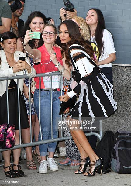 Joan Smalls is seen in New York City on June 16 2015 in New York City
