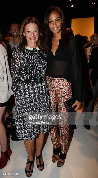 Joan Smalls Jessica Joffe Julia Malik and Jasmin Tabatabai attend the Rena Lange Show at MercedesBenz Fashion Week Spring/Summer 2013 on July 5 2012...