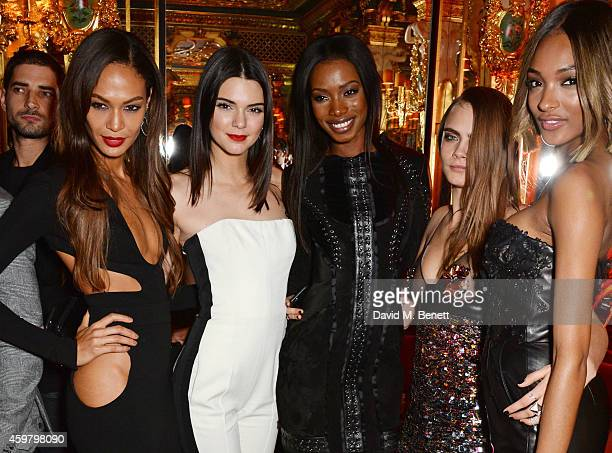Joan Smalls Kendall Jenner Sigail Currie Cara Delevingne and Jourdan Dunn attend a party in celebration of Edward Enninful in The Oscar Wilde Bar...