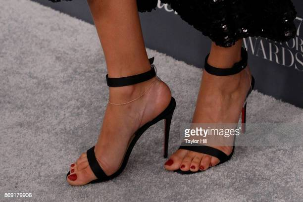 Joan Smalls shoe detail attends the 2017 WSJ Magazine Innovator Awards at Museum of Modern Art on November 1 2017 in New York City