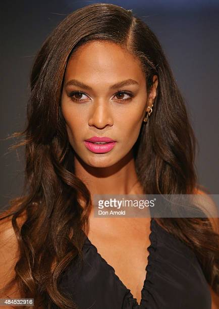 Joan Smalls showcases designs by StudioW during the label launch at David Jones Elizabeth Street Store on August 20 2015 in Sydney Australia