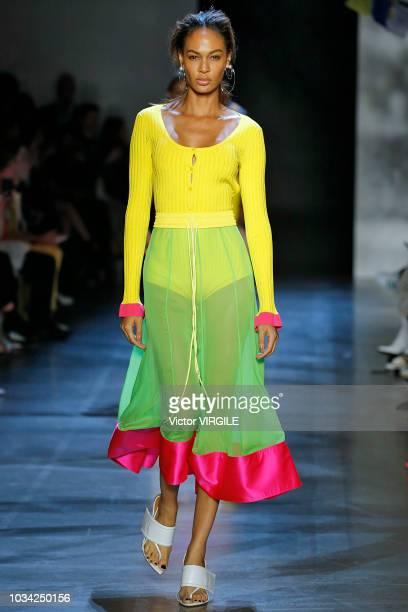 Joan Smalls walks at the Prabal Gurung Spring/Summer 2019 fashion show during New York Fashion Week on September 9 2018 in New York City