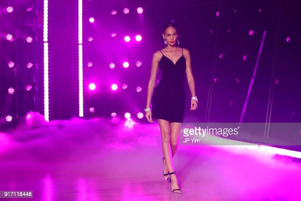 Joan Smalls walks the runway at Brandon Maxwell Fall Winter 2018 Collection at the Appel Room on February 11 2018 in New York City