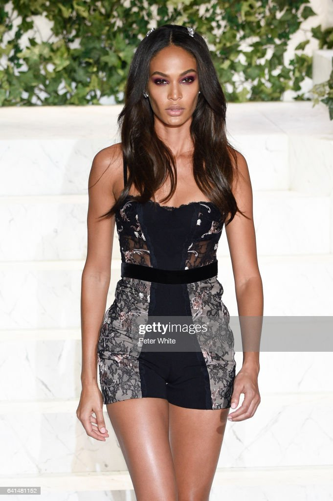 Joan Smalls walks the runway at La Perla fashion show Fall/Winter 2017-2018 Ready To Wear Show at SIR Stage 37 on February 9, 2017 in New York City.