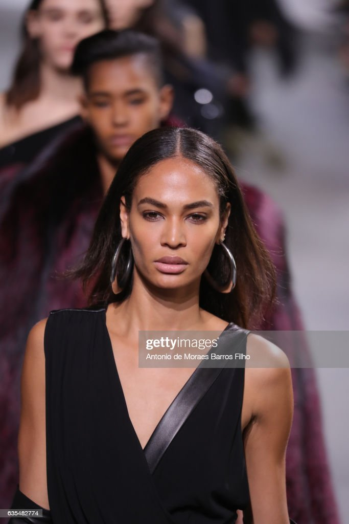 Joan Smalls walks the runway at Michael Kors show during New York Fashion Week at Spring Studios on February 15, 2017 in New York City.