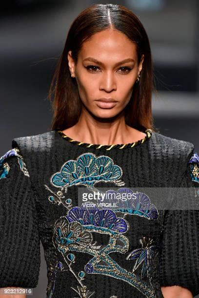 Joan Smalls walks the runway at the Alberta Ferretti Ready to Wear Fall/Winter 20182019 fashion show during Milan Fashion Week Fall/Winter 2018/19 on...