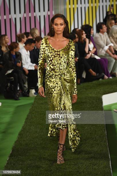 Joan Smalls walks the runway at the Escada show during New York Fashion Week on September 9 2018 in New York City