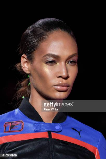 Joan Smalls walks the runway at the Fenty Puma By Rihanna fashion show during New York fashion week at Park Avenue Armory on September 10 2017 in New...