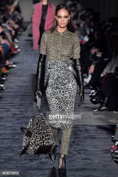 Joan Smalls walks the runway at the Max Mara Ready to Wear Fall/Winter 20182019 fashion show during Milan Fashion Week Fall/Winter 2018/19 on...