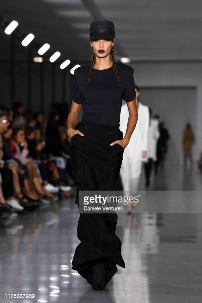 Joan Smalls walks the runway at the Max Mara show during the Milan Fashion Week Spring/Summer 2020 on September 19 2019 in Milan Italy