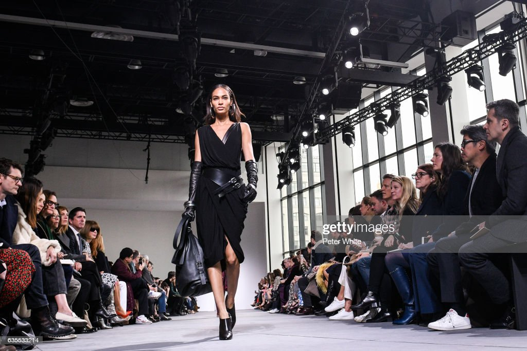 Joan Smalls walks the runway at the Michael Kors Collection Fall 2017 show at Spring Studios on at Spring Studios on February 15, 2017 in New York City.