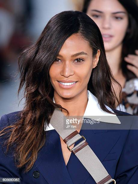 Joan Smalls walks the runway at the Michael Kors Spring 2017 Runway Show duing NEw York Fasion Week at Spring Studios on September 14 2016 in New...