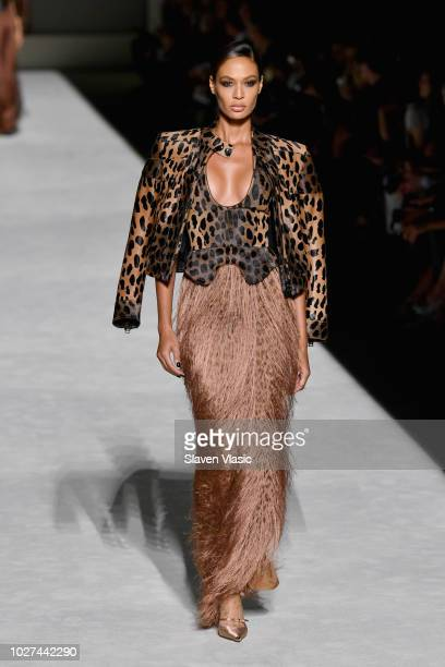 Joan Smalls walks the runway at the Tom Ford fashion show during New York Fashion Week at Park Avenue Armory on September 5 2018 in New York City