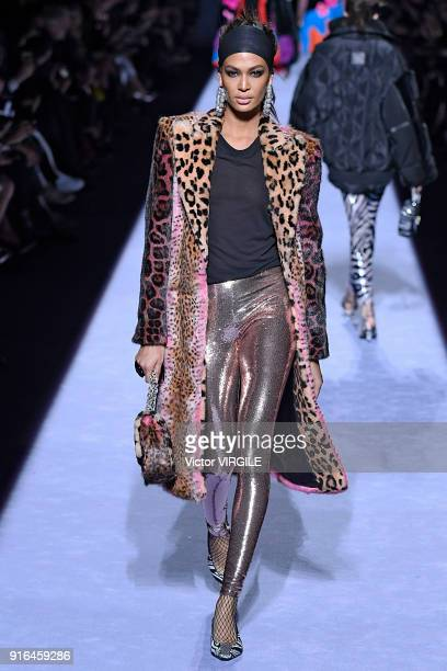 Joan Smalls walks the runway at the Tom Ford Ready to Wear Fall/Winter 20182019 fashion show during New York Fashion Week at Park Avenue Armory on...