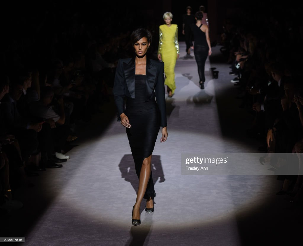 Joan Smalls walks the runway at the Tom Ford show during New York Fashion Week at 643 Park Avenue on September 6, 2017 in New York City.