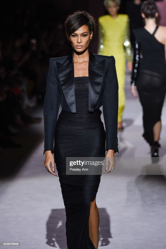 Joan Smalls walks the runway at Tom Ford - Runway - September 2017 - New York Fashion Week at 643 Park Avenue on September 6, 2017 in New York City.