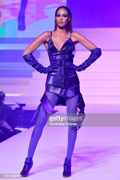 Joan Smalls walks the runway during the Jean-Paul Gaultier Haute Couture Spring/Summer 2020 show as part of Paris Fashion Week at Theatre Du Chatelet...