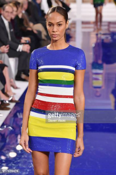 Joan Smalls walks the runway for Ralph Lauren during New York Fashion Week The Shows at on February 12 2018 in New York City