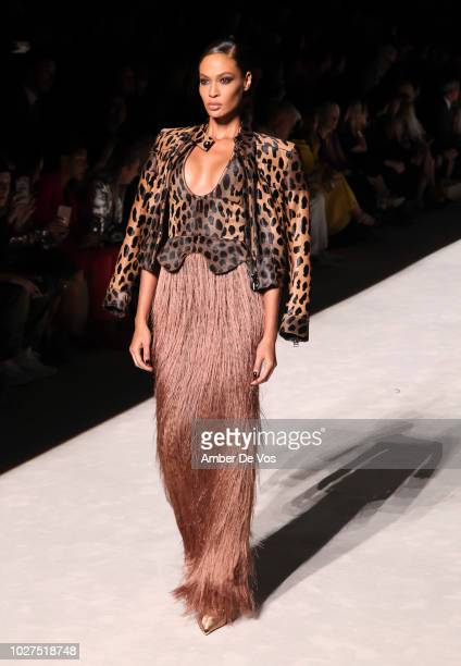 Joan Smalls walks the runway Tom Ford SS19 Fashion Show at Park Avenue Armory on September 5, 2018 in New York City.