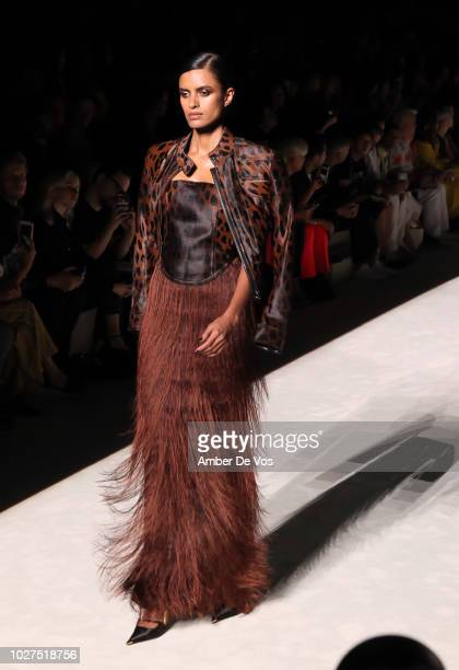 Joan Smalls walks the runway Tom Ford SS19 Fashion Show at Park Avenue Armory on September 5 2018 in New York City