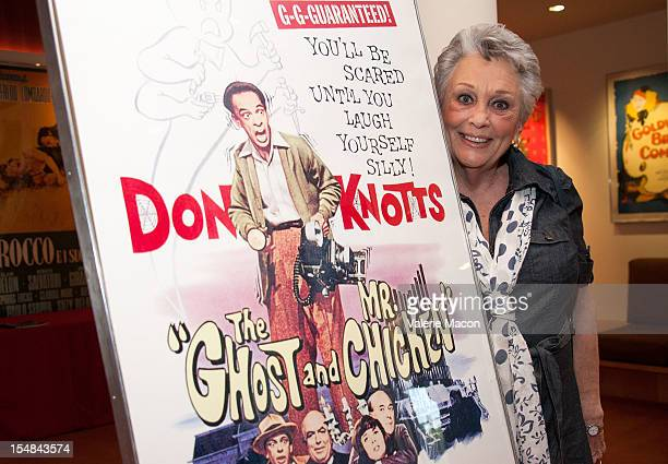 Joan Staley attends The Academy Of Motion Picture Arts And Sciences' Screening Of Abbott and Costello Meet Frankenstein The Ghost And Mr Chicken on...