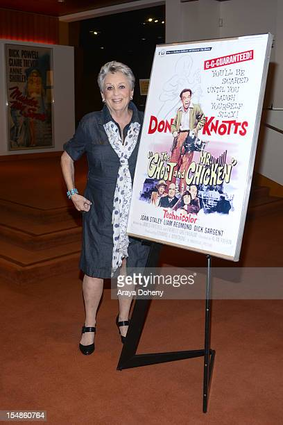 Joan Staley attends The Academy Of Motion Picture Arts And Sciences' Screening Of 'Abbott and Costello Meet Frankenstein' 'The Ghost And Mr Chicken'...