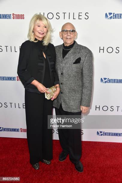 Joan Stewart and Dennis Jacobs attends the premiere of Entertainment Studios Motion Pictures' 'Hostiles' at Samuel Goldwyn Theater on December 14...